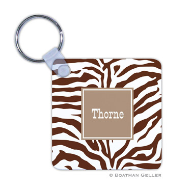 Zebra Chocolate Key Chain by Boatman Geller