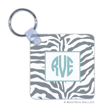 Zebra Gray Key Chain by Boatman Geller