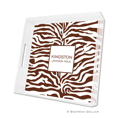 Zebra Chocolate Square Tray