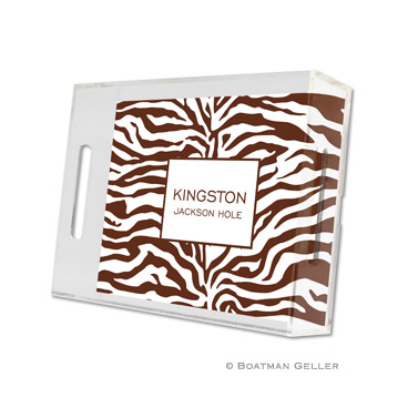 Zebra Chocolate Small Tray