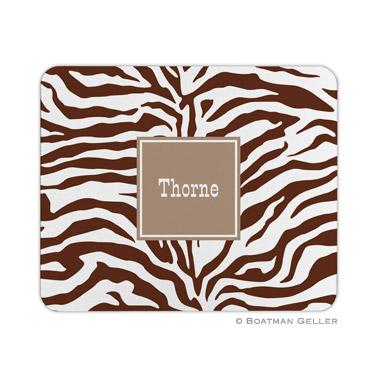 Zebra Chocolate Mouse Pad by Boatman Geller