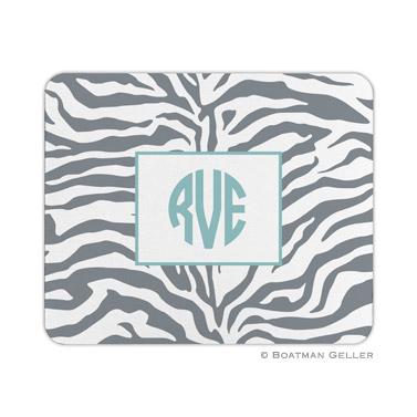 Zebra Gray Mouse Pad