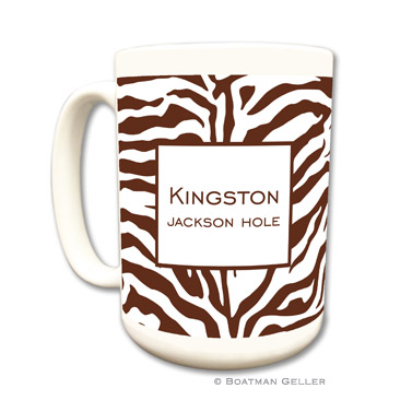 Zebra Chocolate Mug
