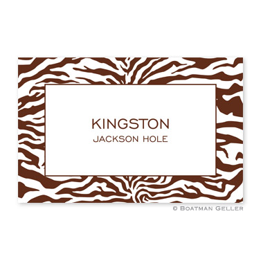 Zebra Chocolate Personalized Placemat