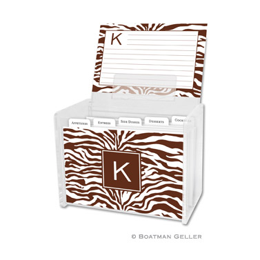 Zebra Chocolate Recipe Box