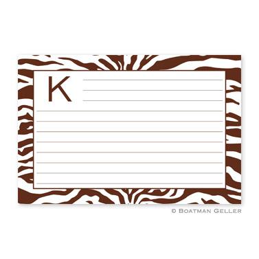Zebra Chocolate Personalized Recipe Cards