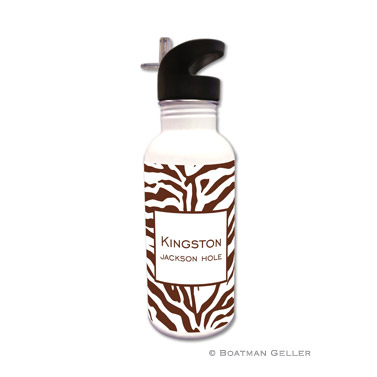 Zebra Chocolate Water Bottle
