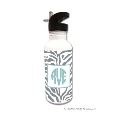 Zebra Gray Water Bottle