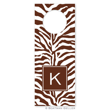 Zebra Chocolate Wine Tag
