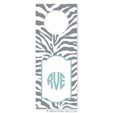 Zebra Gray Wine Tag