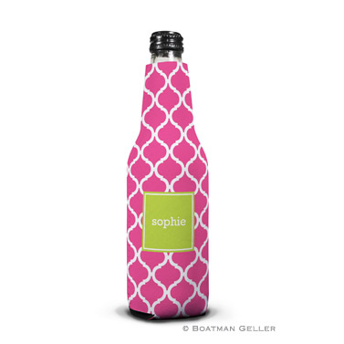 Ann Tile Raspberry Bottle Koozie