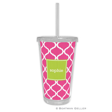 Ann Tile Raspberry Beverage Tumbler