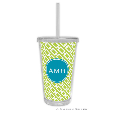 Chain Link Lime Beverage Tumbler