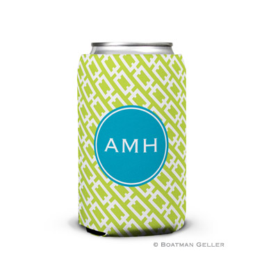 Chain Link Lime Can Koozie