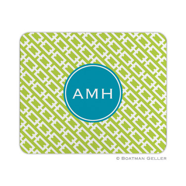 Chain Link Lime Mouse Pad