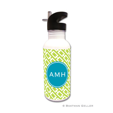 Chain Link Lime Water Bottle