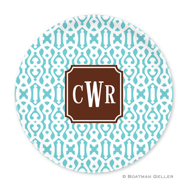 Cameron Teal Personalized Plate