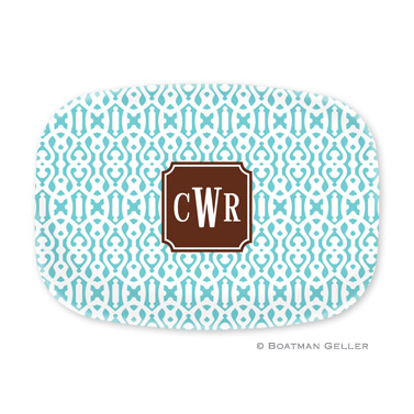 Cameron Teal Personalized Platter