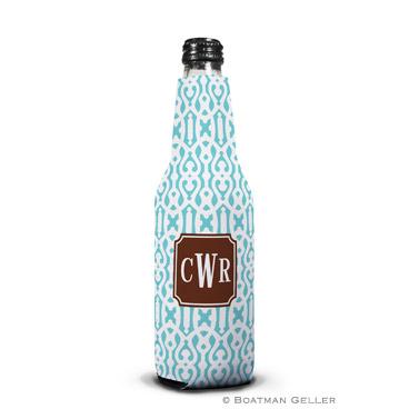 Cameron Teal Bottle Koozie