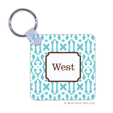 Cameron Teal Key Chain by Boatman Geller