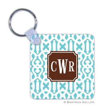 Cameron Teal Key Chain