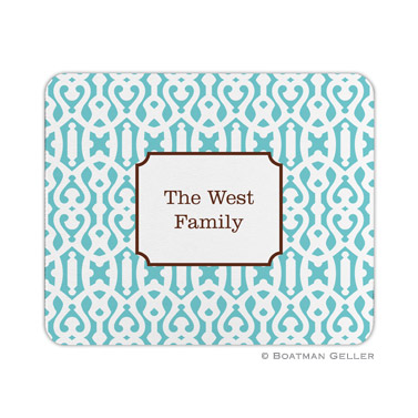 Cameron Teal Mouse Pad