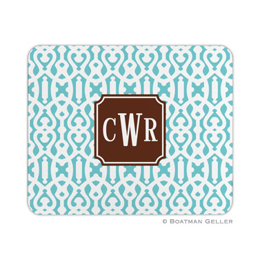 Cameron Teal Mouse Pad by Boatman Geller
