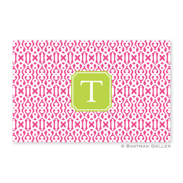 Cameron Raspberry Personalized Placemat