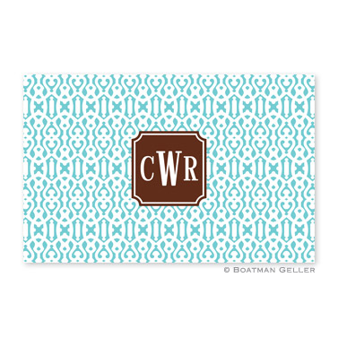 Cameron Teal Personalized Placemat