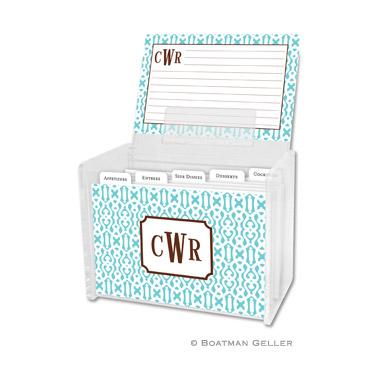 Cameron Teal Recipe Box