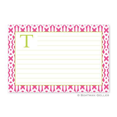 Cameron Raspberry Personalized Recipe Cards