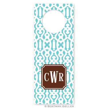 Cameron Teal Wine Tag