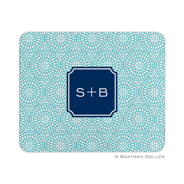 Bursts Teal Mouse Pad