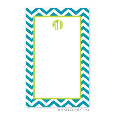 Chevron Turquoise Notepad