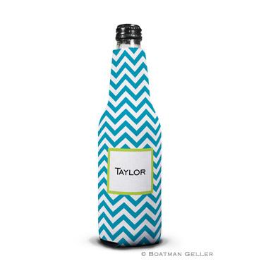 Chevron Turquoise Bottle Koozie