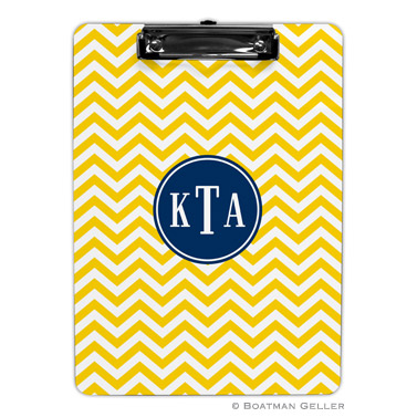 Chevron Sunflower Clipboard