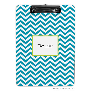 Chevron Turquoise Clipboard