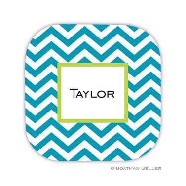 Chevron Turquoise Coaster
