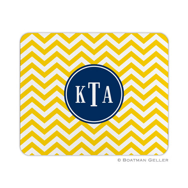Chevron Sunflower Mouse Pad