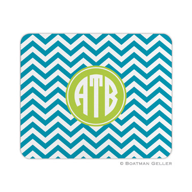Chevron Turquoise Mouse Pad