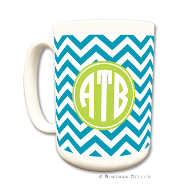 Chevron Turquoise Mug