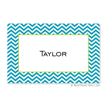 Chevron Turquoise Personalized Placemat