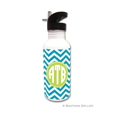 Chevron Turquoise Water Bottle
