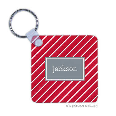 Kent Stripe Cherry  Key Chain