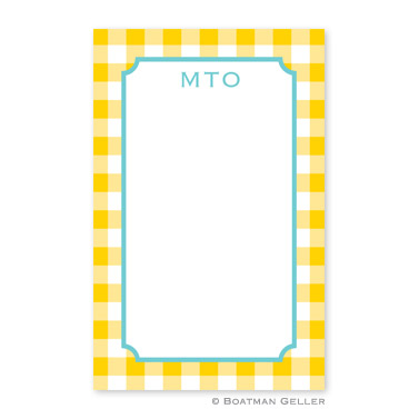 Classic Check Sunflower Notepad