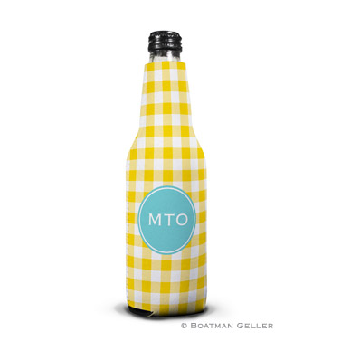 Classic Check Sunflower Bottle Koozie