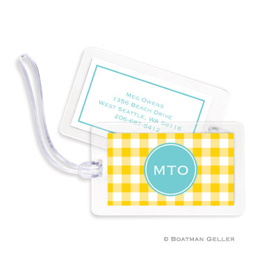 Classic Check Sunflower Bag Tag
