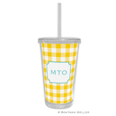 Classic Check Sunflower Beverage Tumbler