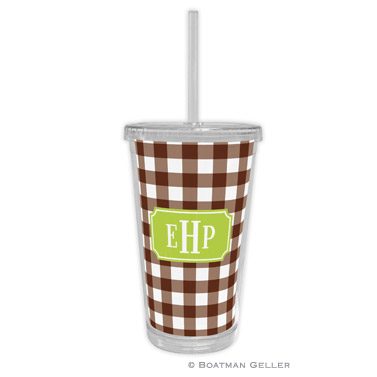 Classic Check Chocolate Beverage Tumbler