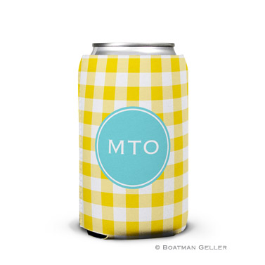 Classic Check Sunflower Can Koozie